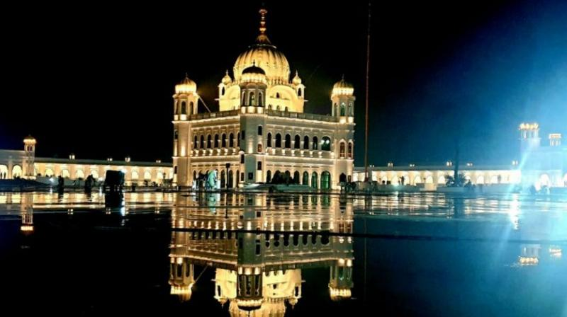 Golden 'Palki Sahib' installed at Gurdwara Darbar Sahib in Kartarpur