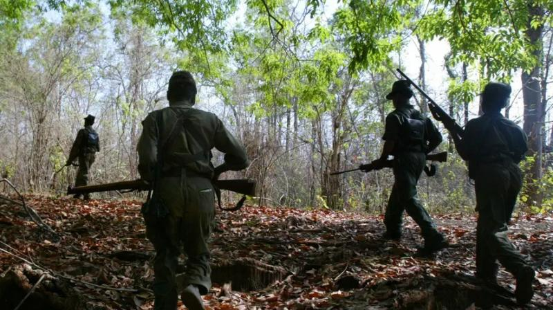 Pakistani army rifles recovered from naxalites in Kanker