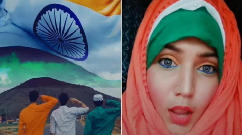 Tiktok videos on independence day indian making video on 15 august
