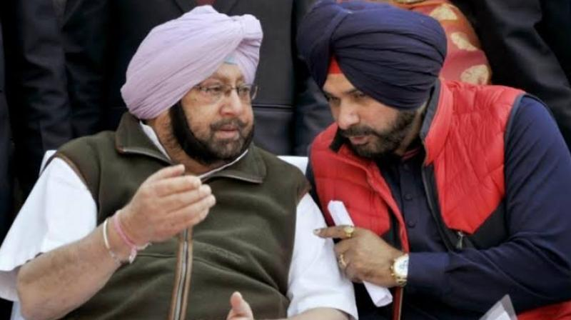 Captain with Navjot Sidhu