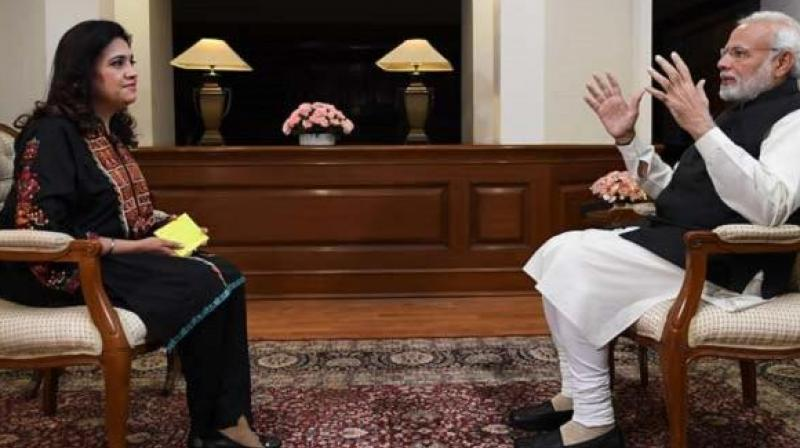 Prime Minister Narendra Modi during the Interview