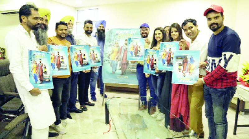 Poster release of Neeru Bajwa and Amit Mann upcoming Movie Aate Di Chiri