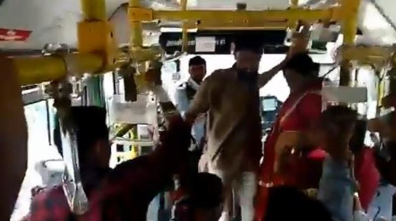 Jaipur bus driver flogs woman