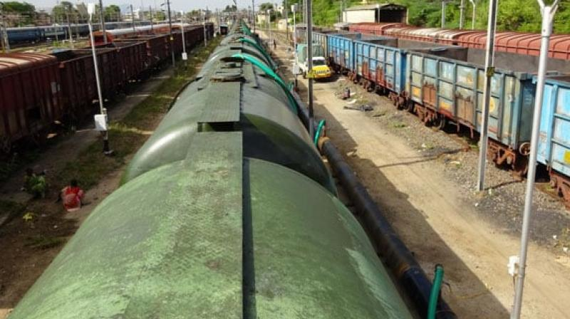 Special water train from Vellore to Chennai