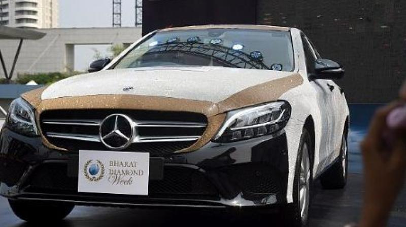 Mercedes Benz C Class with 3.5 lakh CZ diamonds