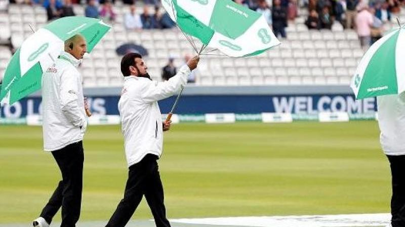 Test was called off due to continuous rain at Lord's