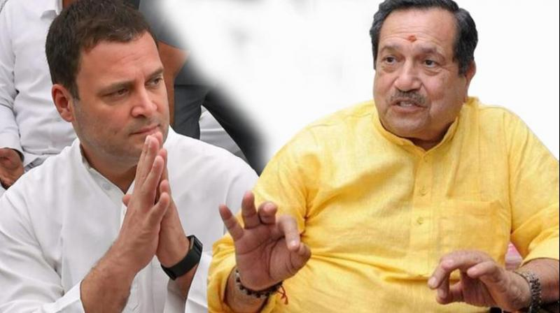 Rahul Gandhi with Indresh Kumar