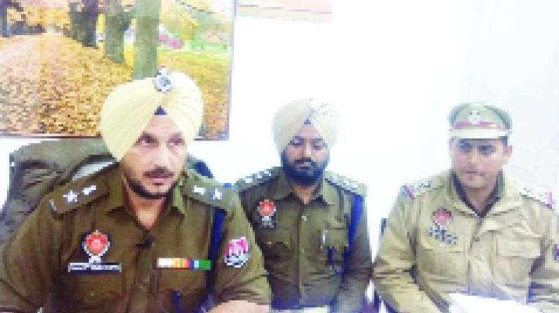 While giving information SSP Manjit Singh Dhesi And Others