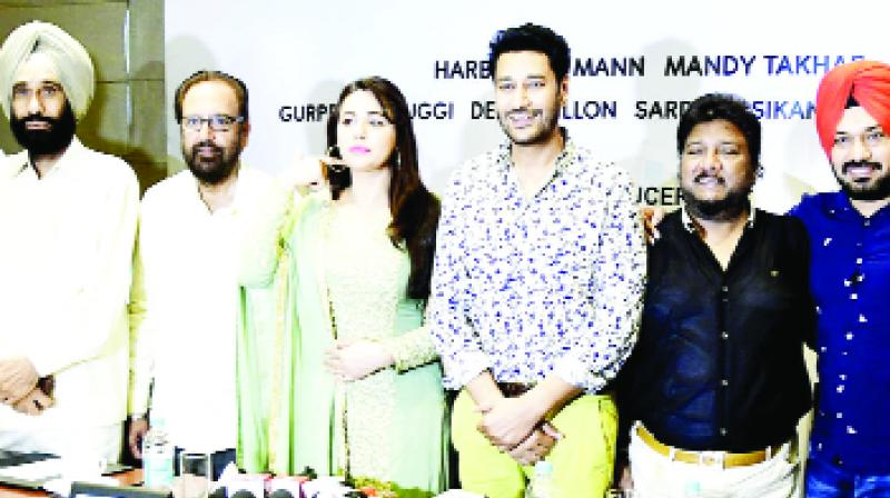 Harbhajan Maan and others during in conversation with the media