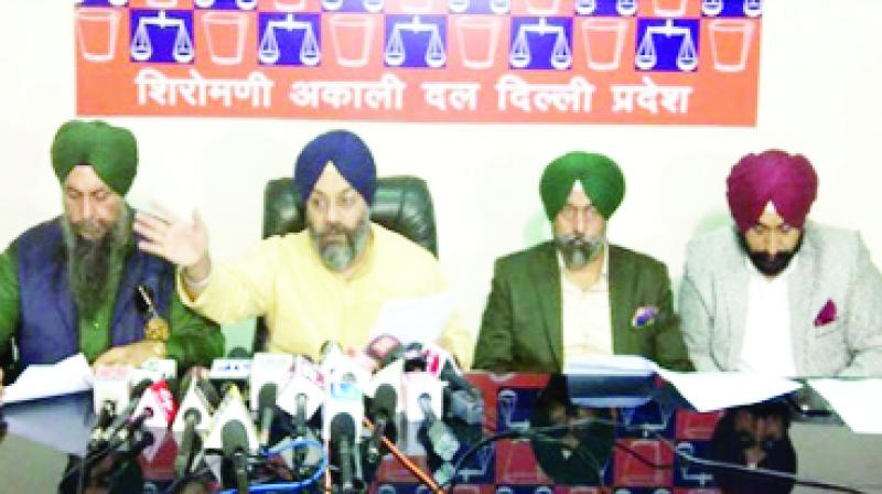 Manjeet Singh GK and others Talking to Media
