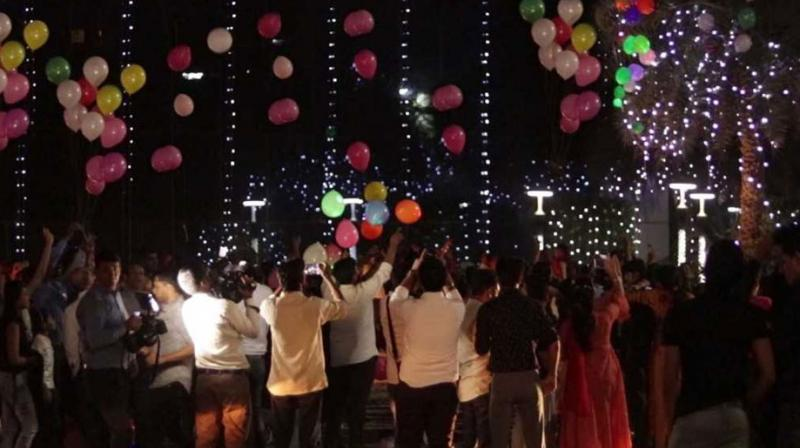 Diwali celebrations with LED Balloons