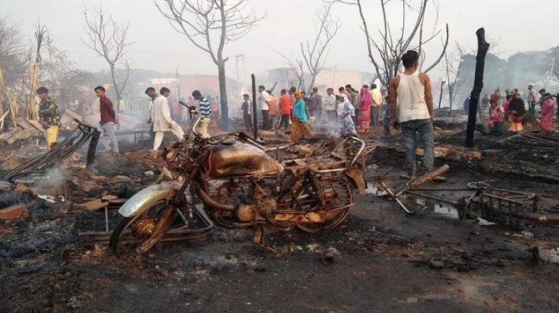 200 slums burnt