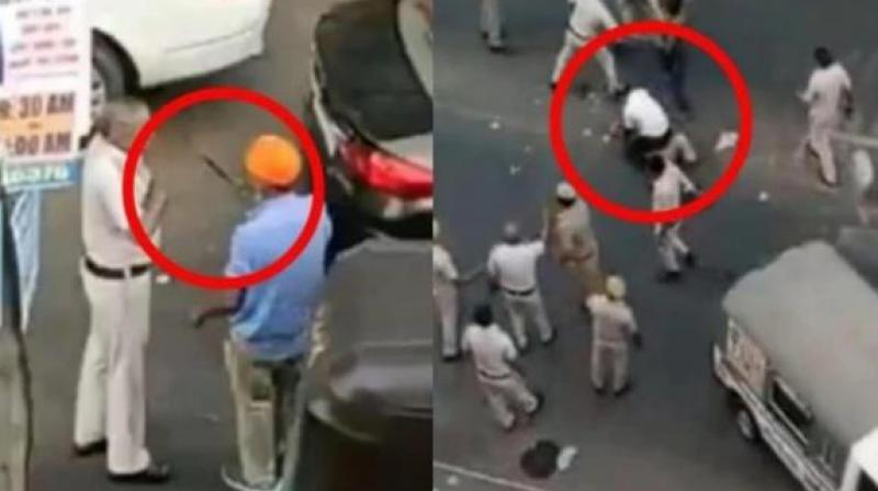 Delhi cops beat up Sikh drive