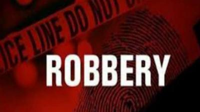 Three robbers cut ATM
