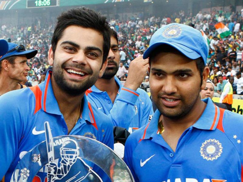 Virat Kohli with Rohit Sharma