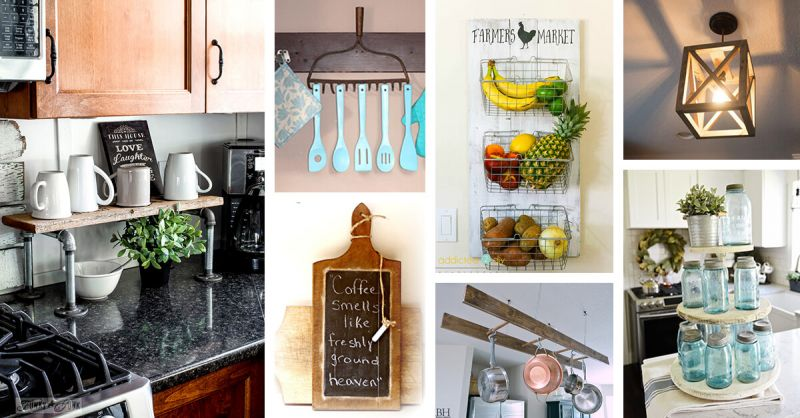 Decorate the house with old utensils