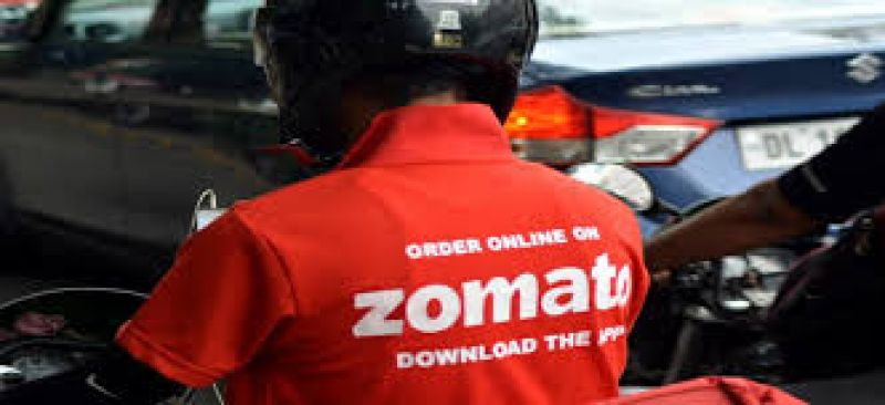 Zomato food delivery boy protesting against delivering