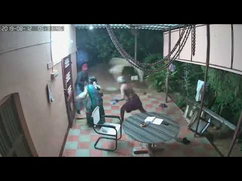 Old Couple Fight with Robbers