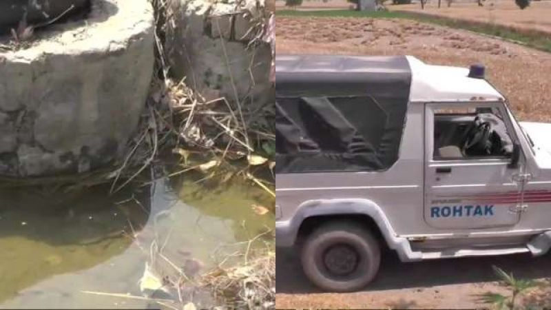 body of minor girl found inside bag in drain rohtaks