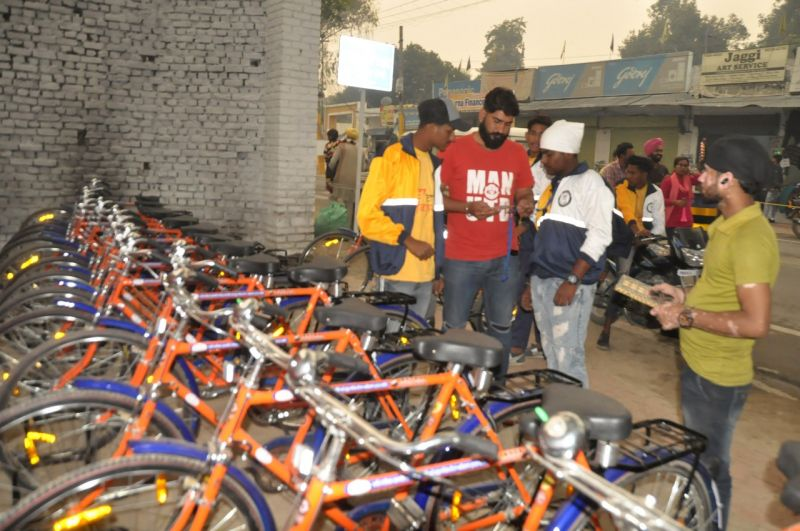 Free bicycles provided to the devotees