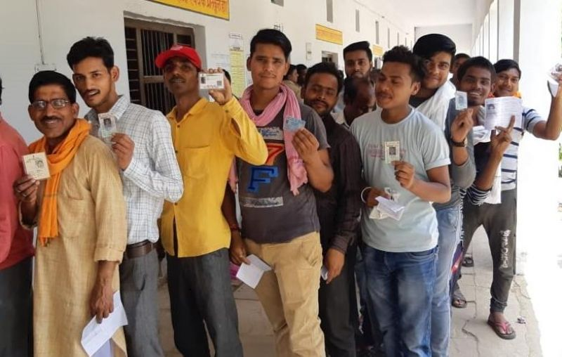 Fourth round of Lok Sabha elections, 50 percent polling