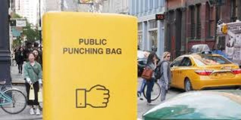 punching bag designed to deal with stress