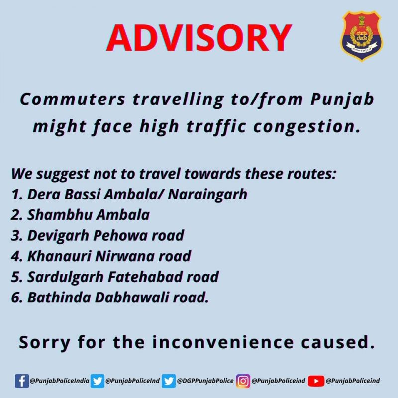 Punjab Police Advisory