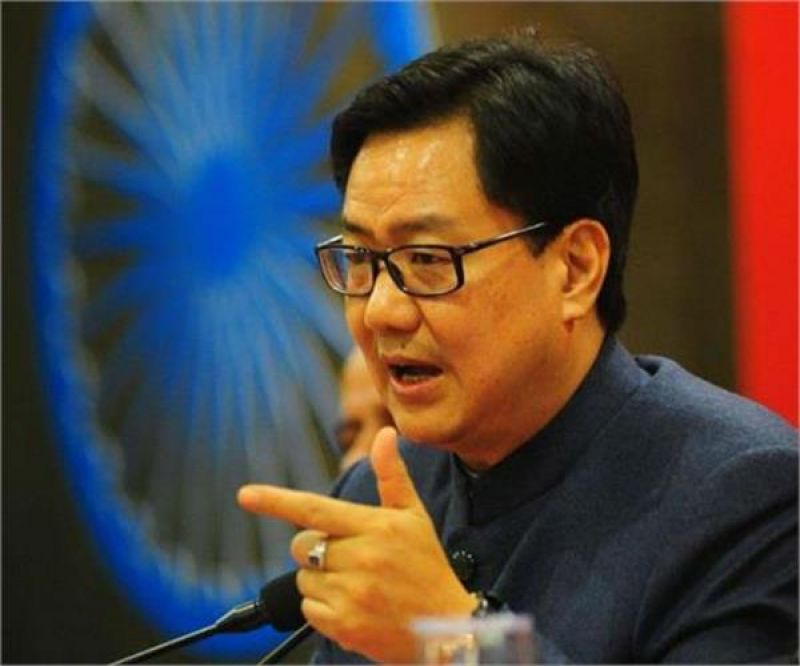 Minister of State for Home Affairs Kiran Rijiju