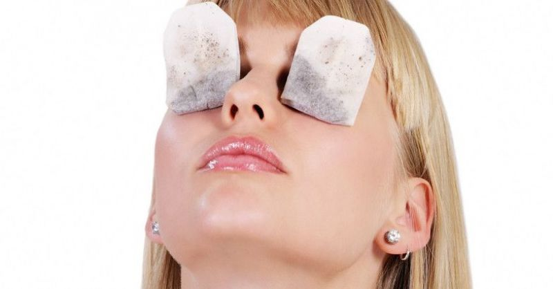 Tea Bags on eyes