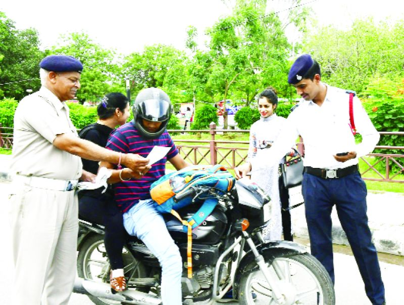 Police Cutting Challan