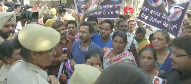 Amritsar rail tragedy: Victims family protest