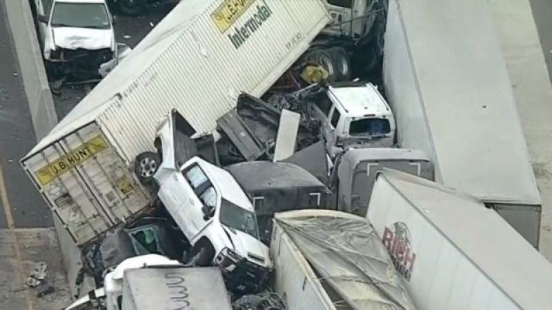 Nearly 100 Vehicles Crash Into Each Other In US